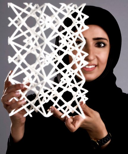 Parametric Mashrabiya screen. Photo: Nehal Almerbati