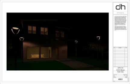 "Night rendering for ""luring"" burglars into the home."